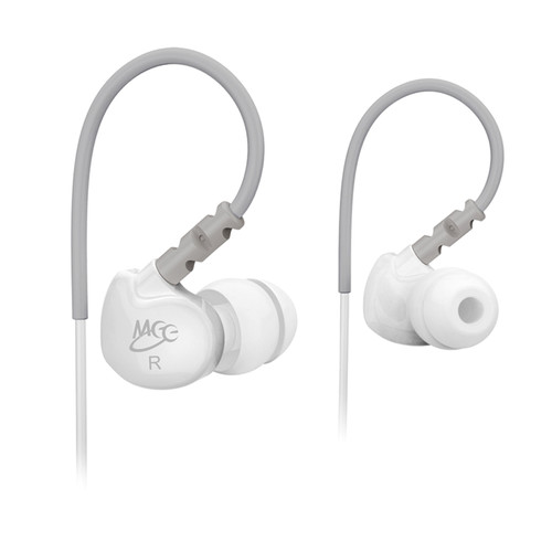 MEE audio Sport-Fi M6 Memory Wire In-Ear Headphones (White)