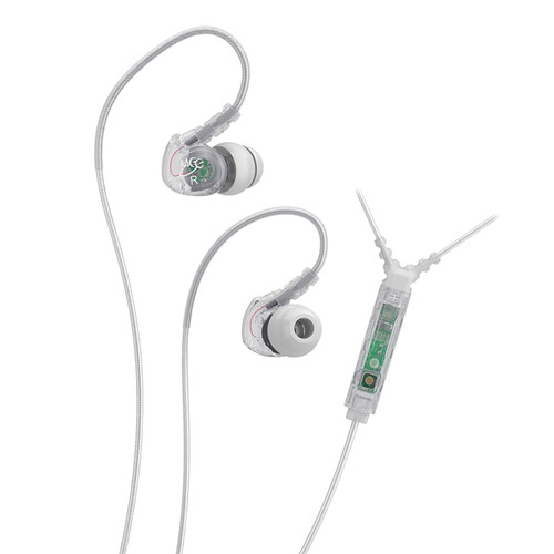 MEElectronics Sport-Fi M6P Memory Wire In-Ear Headphones with In-Line Mic Remote Control (Clear)