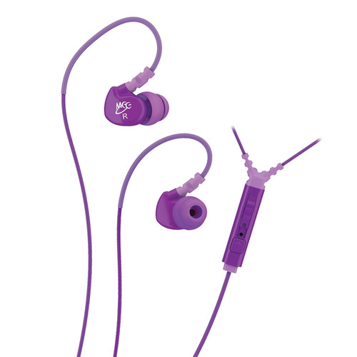 MEElectronics Sport-Fi M6P Memory Wire In-Ear Headphones with In-Line Mic Remote Control (Purple)