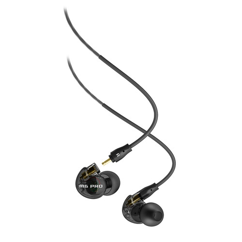 MEElectronics M6 PRO Universal-Fit Noise-Isolating Musician's In-Ear Monitors with Detachable Cables (Black)