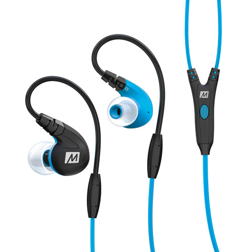 MEElectronics M7P Secure-Fit Sports In-Ear Headphones (Blue)