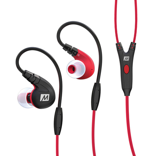 MEElectronics M7P Secure-Fit Sports In-Ear Headphones (Red)