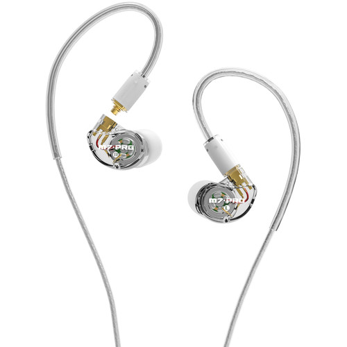 MEE audio M7 Pro Hybrid Dual-Driver Musician's In-Ear Monitors with Detachable Cables (Clear)
