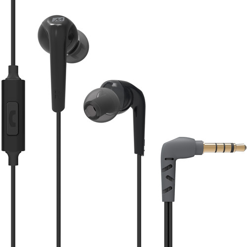 MEE audio RX18P Comfort-Fit, In-Ear Headphones with Enhanced Bass and Inline Mic (Black)