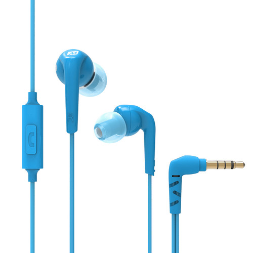MEElectronics RX18P Comfort-Fit In-Ear Headphones with Microphone (Blue)