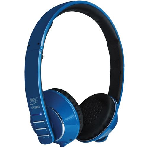 MEElectronics Air-Fi Runaway AF32 Stereo Bluetooth Wireless Headphones with Hidden Microphone (Blue)