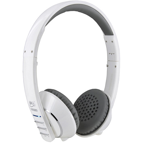 MEElectronics Air-Fi Runaway AF32 Stereo Bluetooth Wireless Headphones with Hidden Microphone (White)