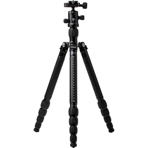 MeFOTO RoadTrip Classic Leather Edition Tripod (Aluminum, Black with Black Leather)