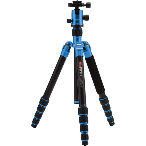 MeFOTO GlobeTrotter Aluminum Travel Tripod Kit (Blue)