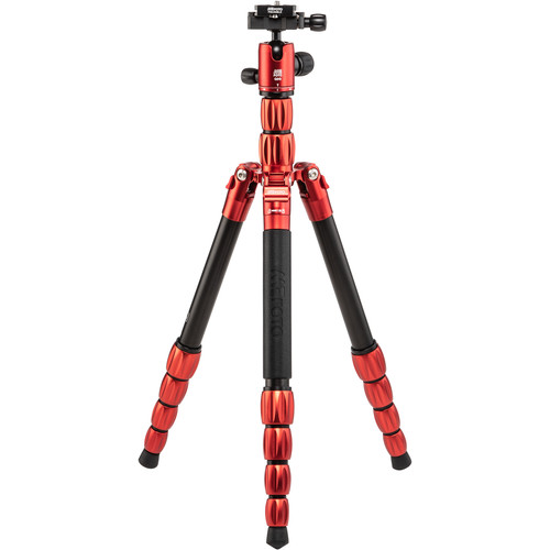 MeFOTO BackPacker S Travel Tripod (Red, Aluminum)