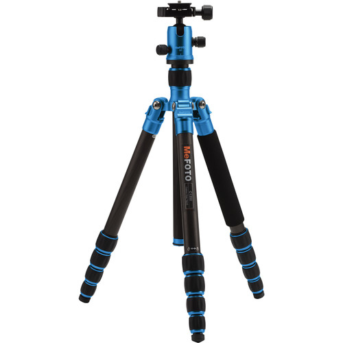 MeFOTO RoadTrip Carbon Fiber Travel Tripod Kit (Blue)