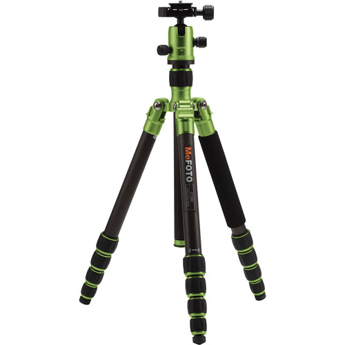 MeFOTO RoadTrip Carbon Fiber Travel Tripod Kit (Green)