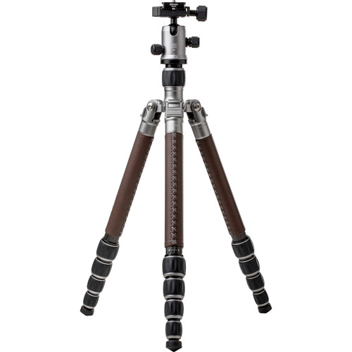 MeFOTO RoadTrip Classic Leather Edition Tripod (Carbon Fiber, Titanium with Brown Leather)