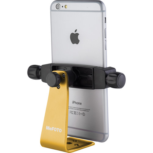 MeFOTO SideKick360 Plus Smartphone Tripod Adapter (Yellow)