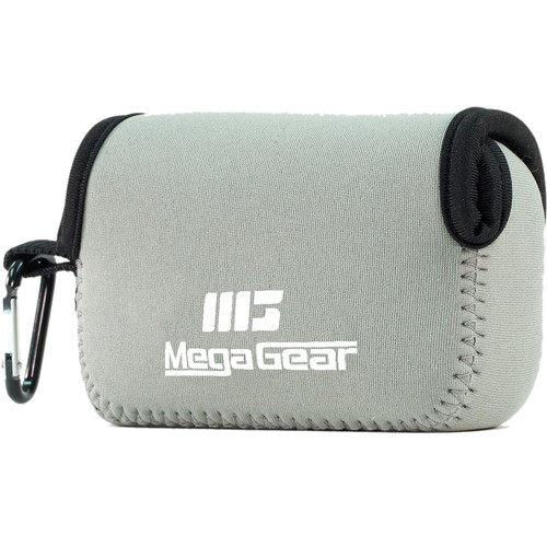 MegaGear Ultralight Neoprene Case for Select Sony and Canon Cameras (Gray)