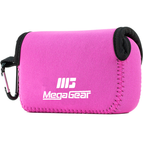 MegaGear MG023 Ultra Light Neoprene Case for Select Sony and Canon Cameras (Pink)