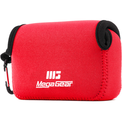 MegaGear Ultralight Neoprene Case for Select Sony and Canon Cameras (Red)