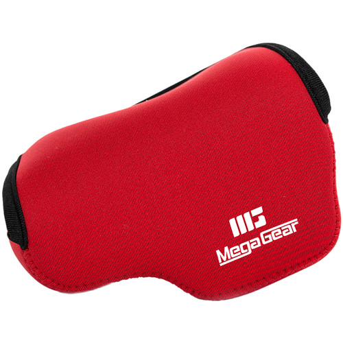MegaGear Ever Ready Case for Sony A6000/A6300 with 16-50mm Lens (Red)