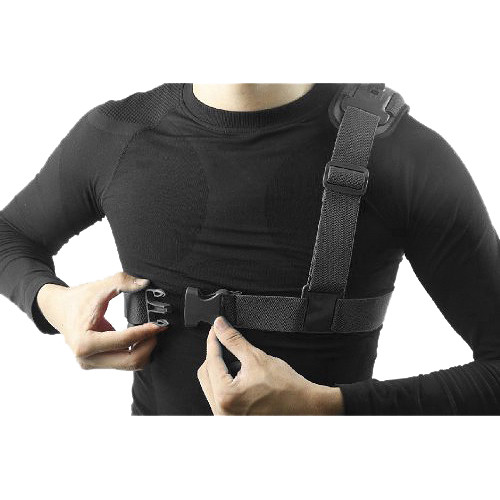 MegaGear Chest Shoulder Strap Mount for GoPro with Cleaning Cloth (Black)