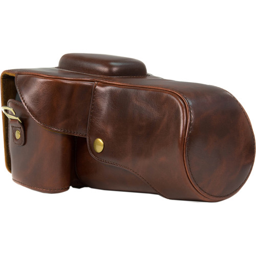 MegaGear MG108 Ever Ready Protective Camera Case for Select Canon Cameras (Antique Dark Brown)