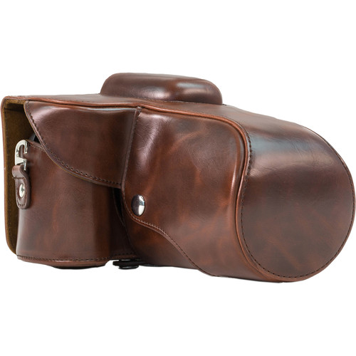 MegaGear MG112 Ever Ready Protective Camera Case for Nikon D3200 with 18-55mm VR Lens (Dark Brown)