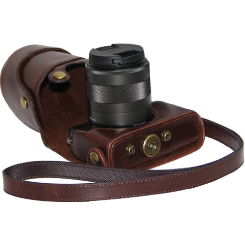 MegaGear Ever Ready Camera Case for Canon EOS M and M2 (Dark Brown)
