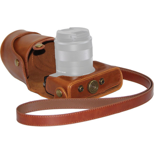 MegaGear MG165 Ever Ready Protective Case with Bag for Canon EOS M (Light Brown)