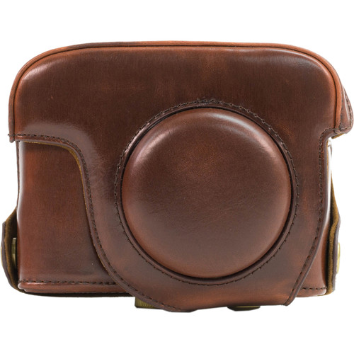 MegaGear PU Leather Camera Case and Strap for Canon PowerShot G16 (Dark Brown)