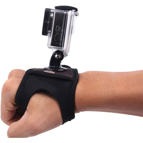 MegaGear Neoprene Glove-Style Wrist Band Mount Strap for GoPro