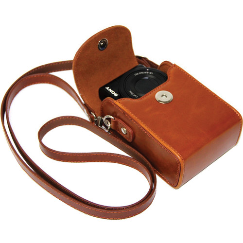 MegaGear MG280 Ever Ready Leather Camera Case/Bag Protective Cover (Light Brown)