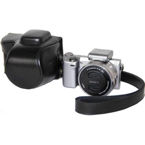 MegaGear MG302 Ever Ready Protective Camera Case for Sony NEX-5T with 16-50mm Lens (Black)