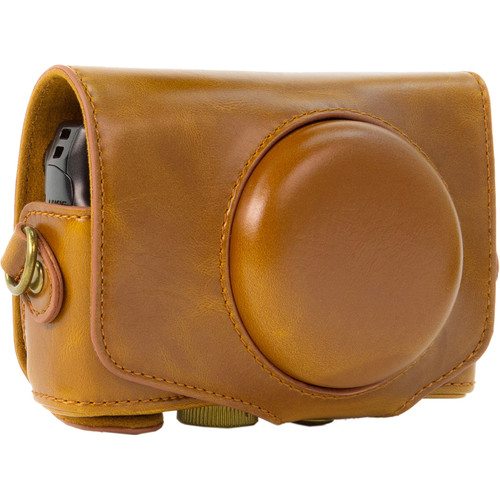 MegaGear MG354 Every Ready Camera Case with Strap for Canon PowerShot SX720 HS (Light Brown)