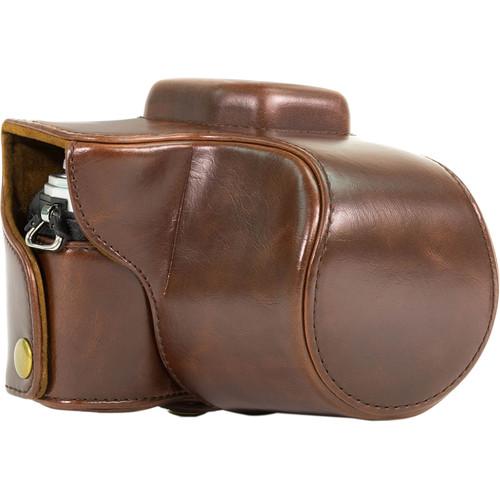 MegaGear MG368 Ever Ready Case for Olympus OM-D E-M10 & 14-42mm (Dark Brown)