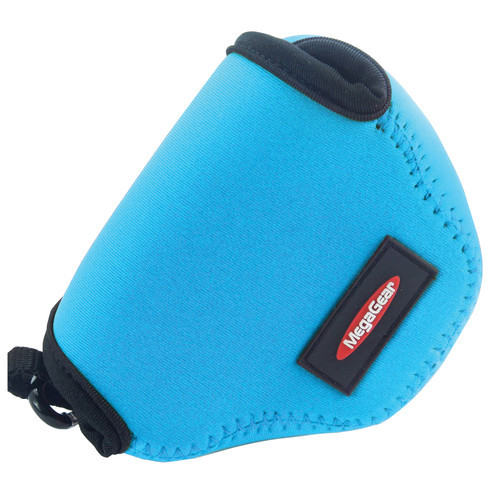 MegaGear MG384 Ultra-Light Neoprene Case for Nikon 1 J4 with 10-30mm (Blue)