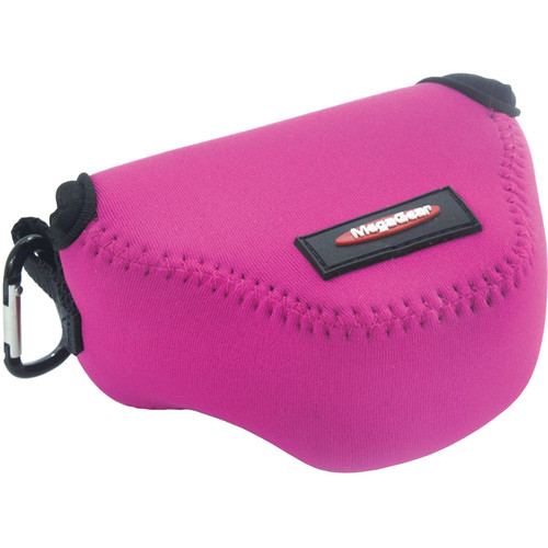 MegaGear MG386 Ultra-Light Neoprene Case for Nikon 1 J4 with 10-30mm (Hot Pink)