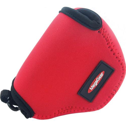 MegaGear Ultralight Neoprene Case for Nikon 1 J4 with 10-30mm (Red)