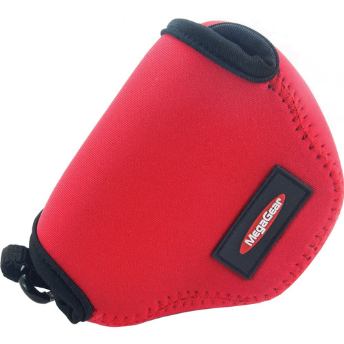 MegaGear MG387 Ultra-Light Neoprene Case for Nikon 1 J4 with 10-30mm (Red)
