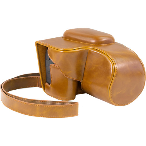 MegaGear MG439 Ever Ready Camera Case for Canon PowerShot SX60 HS (Light Brown)