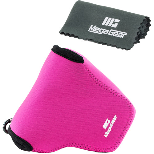 MegaGear MG449 Ultra Light Neoprene Case for Panasonic LUMIX DMC- FZ1000 (Hot Pink)