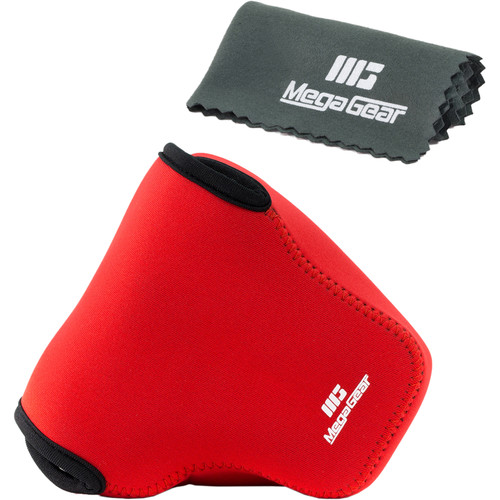 MegaGear MG450 Ultra Light Neoprene Camera Case for Panasonic Lumix DMC- FZ1000 (Red)
