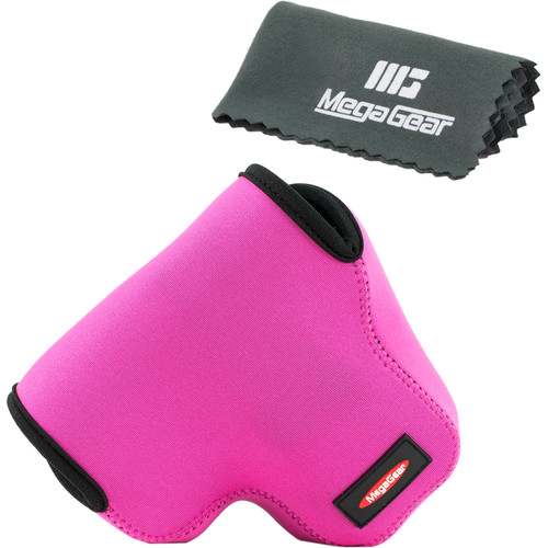 MegaGear MG454 Ultra Light Neoprene Camera Case for Canon PowerShot SX60 (Hot Pink)