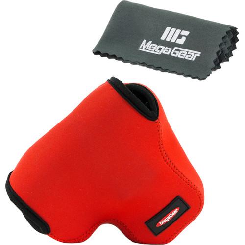 MegaGear MG455 Ultra Light Neoprene Camera Case for Canon PowerShot SX60 (Red)