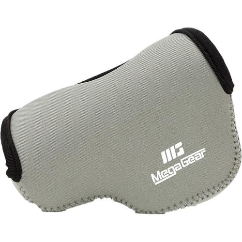 MegaGear Ultralight Neoprene Case for Sony Alpha NEX-F3, NEX-7, or NEX-6 with 16-50mm Lens (Gray)