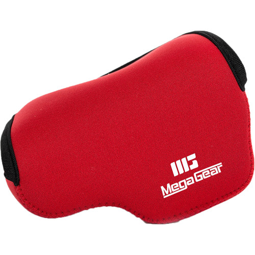 MegaGear Ultra-Light Neoprene Case for Sony Alpha NEX-5R, NEX-5N, or NEX-5 with 16-50mm (Red)
