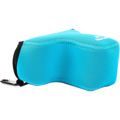 MegaGear Ultra-Light Neoprene Camera Case with Carabiner for Sony a6500 with 16-70mm (Blue)