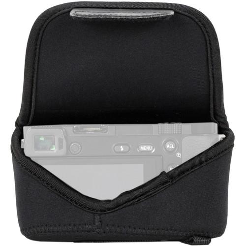 MegaGear MG1017 Ultra Light Neoprene Case with Carabiner for Olympus PEN E-PL8 (Black)