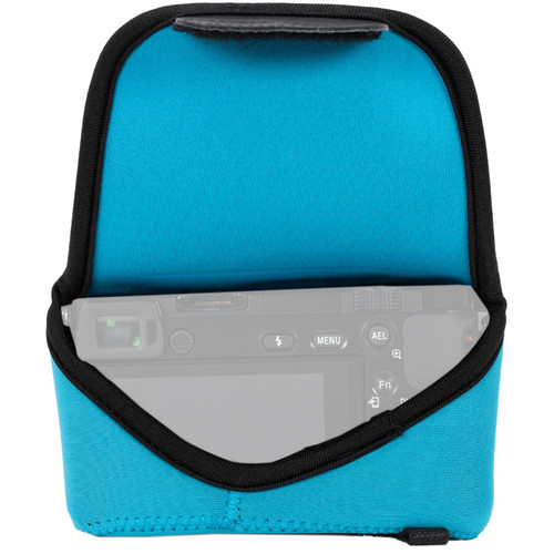 MegaGear MG1019 Ultra Light Neoprene Case with Carabiner for Olympus PEN E-PL8 (Blue)