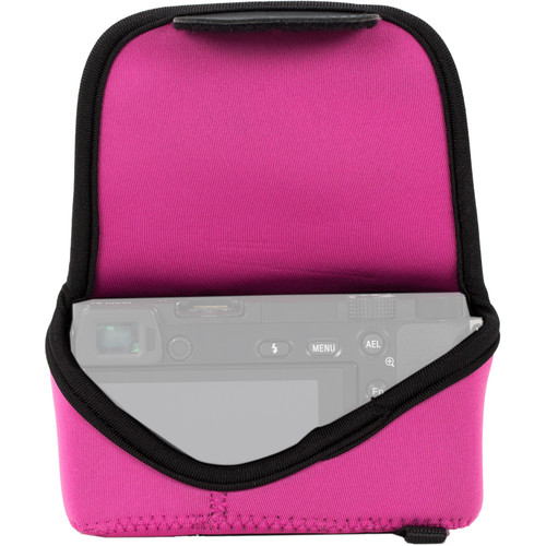 MegaGear MG1020 Ultra Light Neoprene Case with Carabiner for Olympus PEN E-PL8 (Hot Pink)