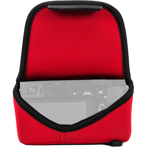 MegaGear Ultra-Light Neoprene Camera Case with Carabiner for Olympus PEN E-PL8 (Red)