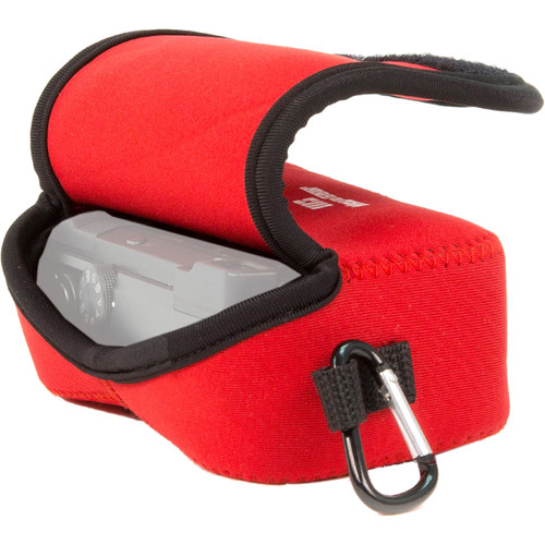 MegaGear Ultra-Light Neoprene Camera Case with Carabiner for Panasonic LUMIX DMC-LX10K (Red)